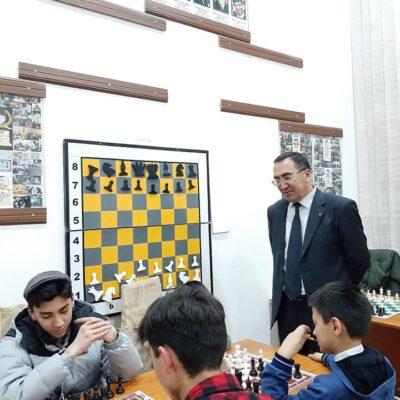 Our coach Sukhrob Khamdamov and his students.